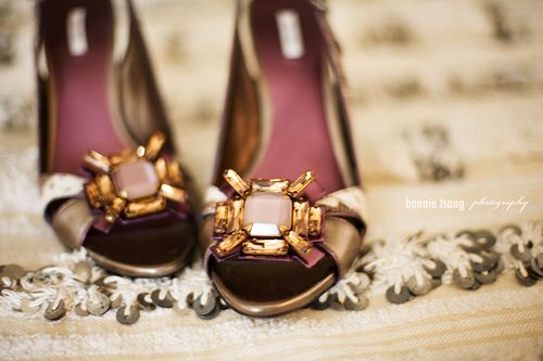 Shoe with bling shot by Bonnie Tsang