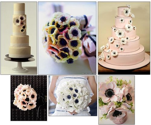 Anemone wedding flower inspiration
