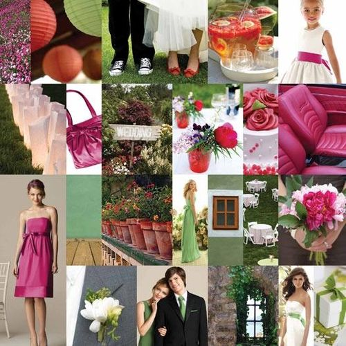 Sage-green-fuschia-pink-wedding-inspiration-bridesmaids-dresses-bridal-bouquet-2